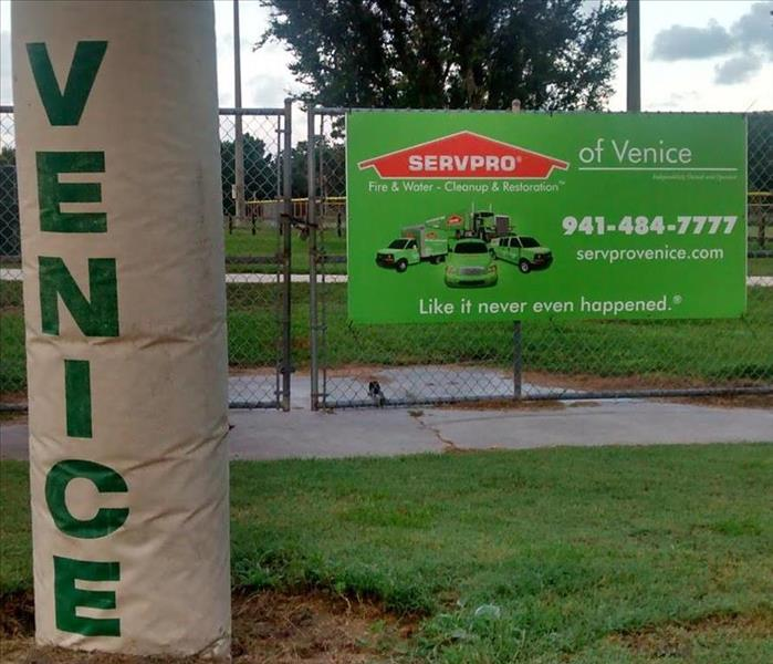 SERVPRO of Venice is a proud sponsor of the Venice Viking Football Team; image of goalpost